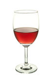 Red wine glass. Isolated on white background stock photo