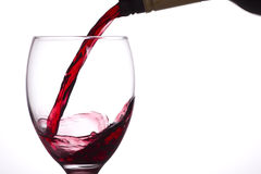 Red wine in a glass. Stock Images