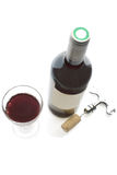 Red wine and glass Stock Image