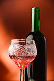 Red wine and glass Stock Images