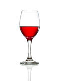 Red wine glass. On white background Stock Photos