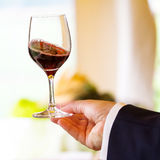 Red wine. In the glass Royalty Free Stock Photography
