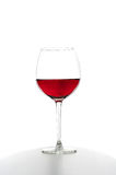 Red wine. A glass of red wine Stock Images