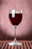 Red wine in glass Stock Image