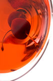 Red wine on glass/ Stock Images