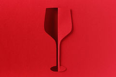 Red wine glass abstract paper cut Royalty Free Stock Photography
