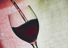 Red Wine In Glass Royalty Free Stock Images