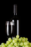 Red wine glass on a black Royalty Free Stock Photo