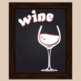 Red wine in a glass Stock Photography