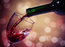 Red Wine glass and Bottle Royalty Free Stock Photo