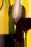Red wine glass and bottle Royalty Free Stock Photography