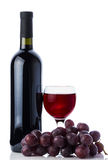 Red wine in glass, bottle Royalty Free Stock Photo