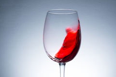 Red wine in glass close up Stock Photos