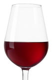 Red wine glass close up on white, clipping path Royalty Free Stock Photos