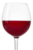 Red wine glass close up on white Stock Photography