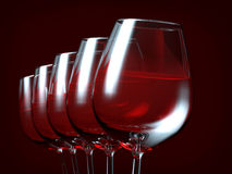 Red wine in a glass. On dark background Royalty Free Stock Photography