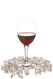 Red wine glass with ice Royalty Free Stock Photo