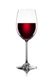 Red wine in glass isolated Stock Images