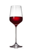 Red wine in glass isolated royalty free stock images