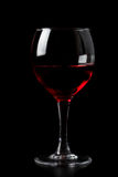Red wine in glass isolated Royalty Free Stock Photos