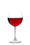 Red wine glass isolated on a white Royalty Free Stock Photos