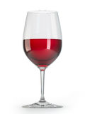 Red wine glass Stock Images