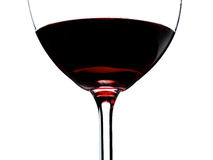 Red wine glass isolated Royalty Free Stock Image