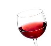 Red wine in the glass isolated Stock Photography