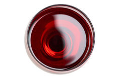 Red Wine in glass. Isolated on white background.  royalty free stock images