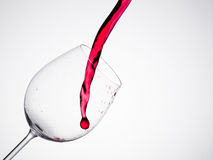 Red wine glass isolated on white background Stock Photography