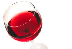Red wine in the glass isolated Royalty Free Stock Images