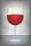 red wine glass  with mystic abstract background Royalty Free Stock Images