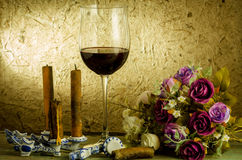 Red wine and glass Royalty Free Stock Photos