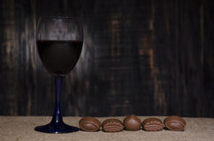 Red wine in a glass royalty free stock image