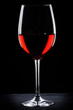Red wine glass silhouette Royalty Free Stock Photos