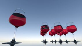 Red, Wine Glass, Stemware, Glass Royalty Free Stock Photography
