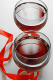 Red wine in the glass. for two Royalty Free Stock Photography