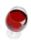 Red Wine Glass on White Stock Images