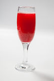 Red wine in a glass on white background.  Royalty Free Stock Images