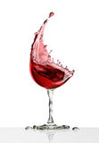 Red wine glass on a white background Royalty Free Stock Photography