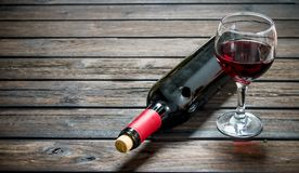 Red wine in glass stock photo