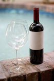 Red Wine and Glasses Royalty Free Stock Photography