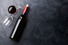 Free Red Wine Glasses And Bottle Stock Photos - 88442503