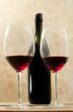 Red wine glasses Stock Image