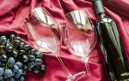 Red wine and glasses Stock Images
