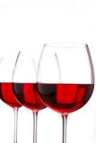 Red wine. Glasses for the delicious stock images