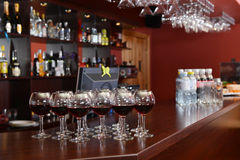 Red wine in glasses Stock Photography