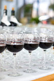 Red wine glasses, selective focus Stock Photography