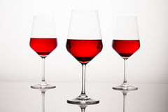 Red Wine Glasses Stock Images