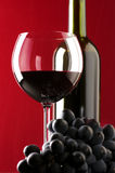 Red wine and grape Stock Photos